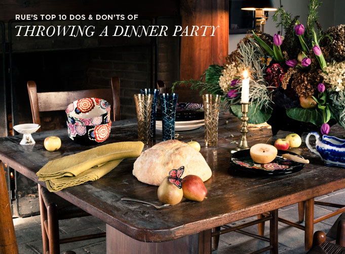 Dos And Donts Of A Throwing Dinner Party