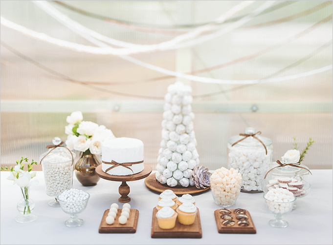 This vintage modern dessert table was the perfect way to celebrate Rue Magazine's third anniversary. | Confetti Pop, images: paper antler | Sweet Tooth blog