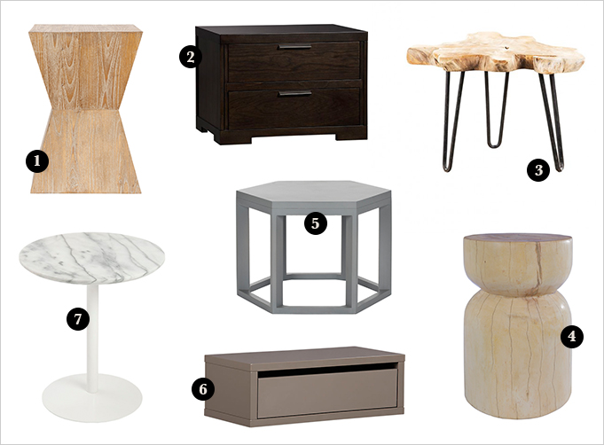 Low Bedside Tables Rue