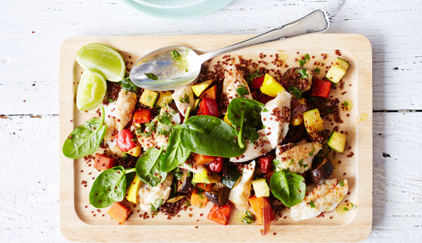 Mexican Fish With Quinoa Salad By Lorna Jane Rue