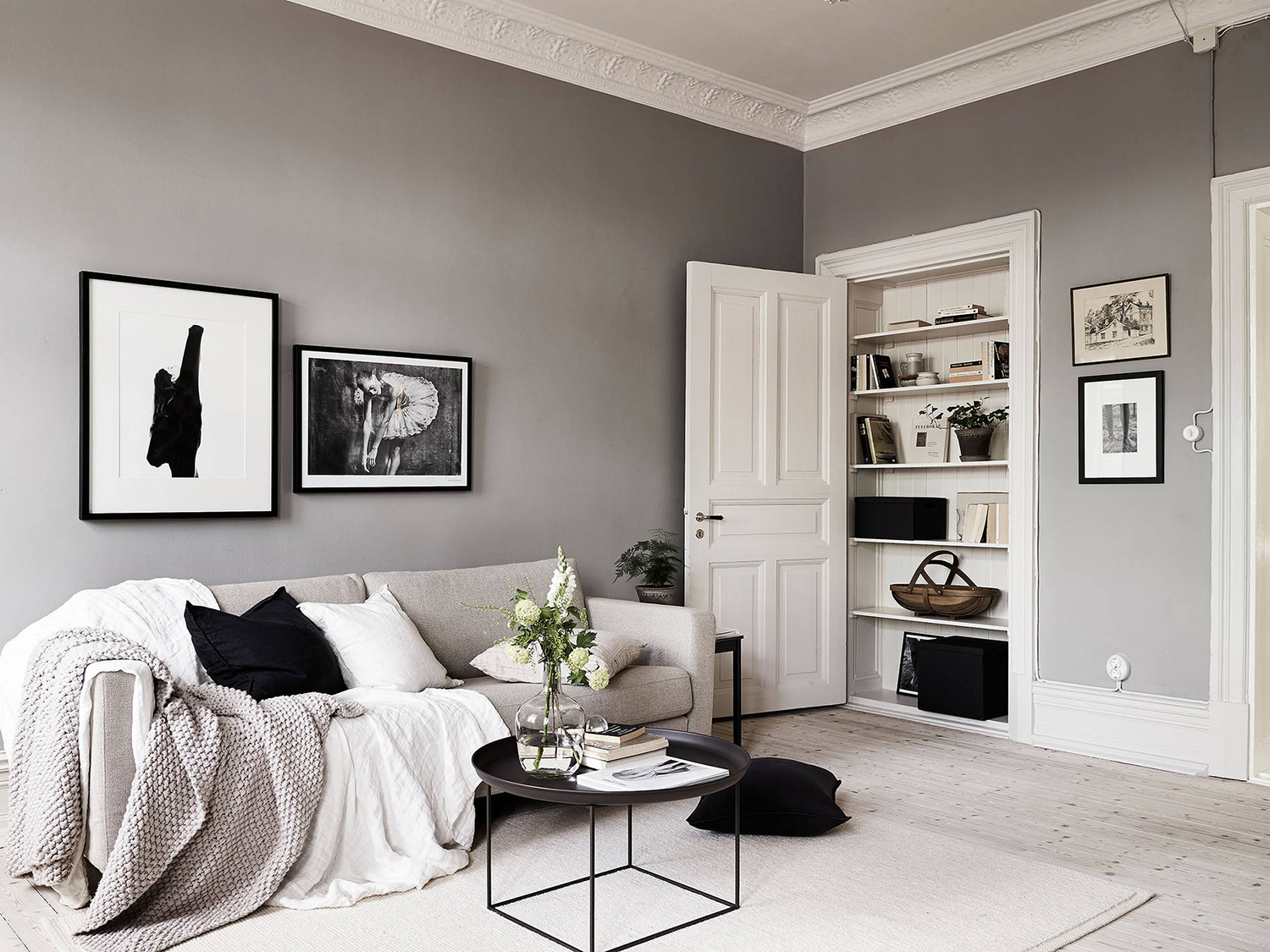 A swedish home with neutral colors rue for What are neutral colors