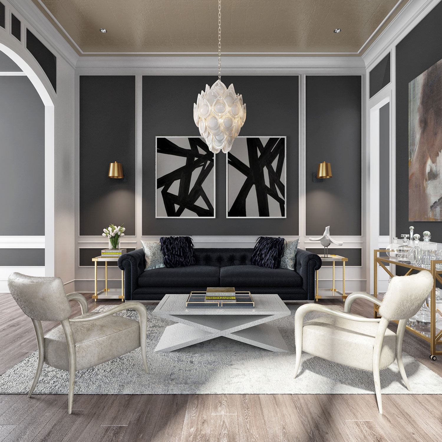 Our Favorite Rooms From The Kathy Kuo Home Designbar Rue