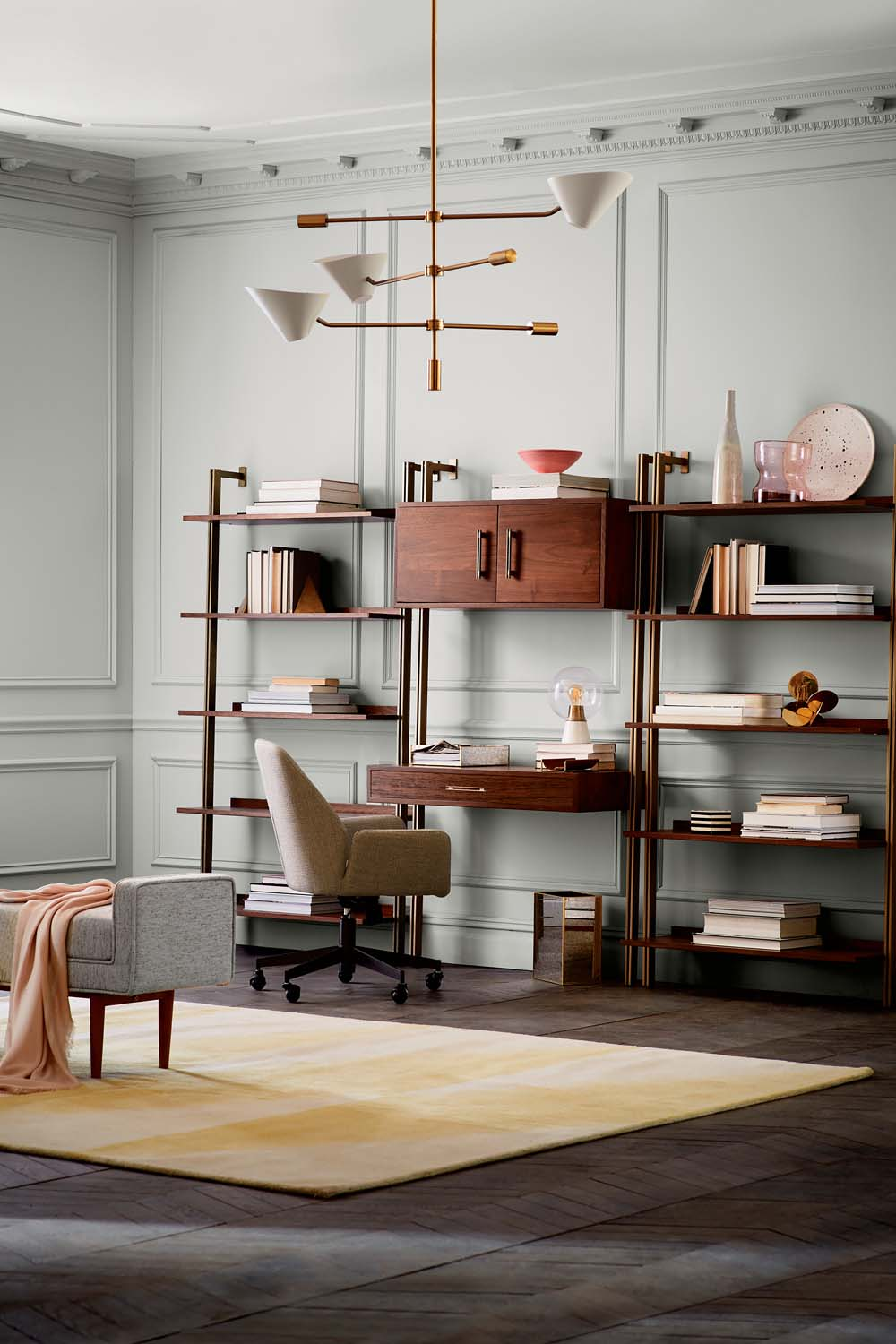This Is From The Linden Collection, Which Features Refined Lines And Brass  Fittings. Metal L Shaped Brackets Mount To The Wall. The Workstation Is  Optional, ...
