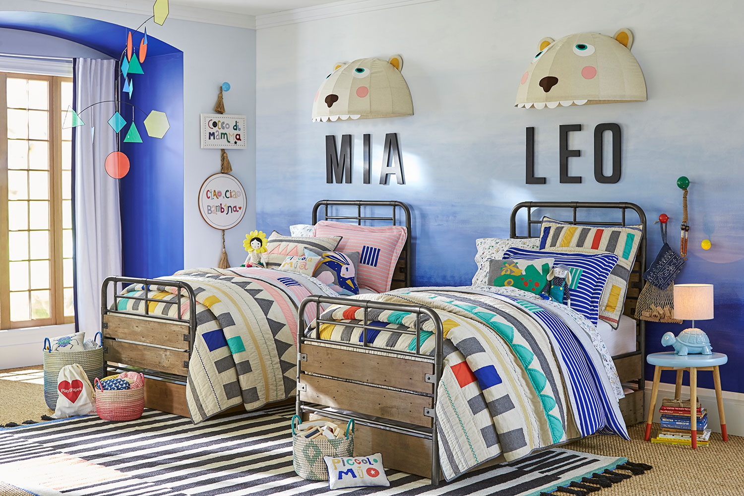 7 Inspiring Kid Room Color Options For Your Little Ones: Margherita Missoni For Pottery Barn Kids