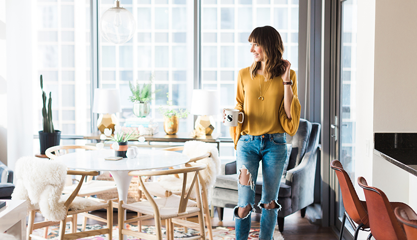 A Fashion Blogger at Home: Blair Staky of The Fox and She Welcomes Us Into her Chicago High-Rise