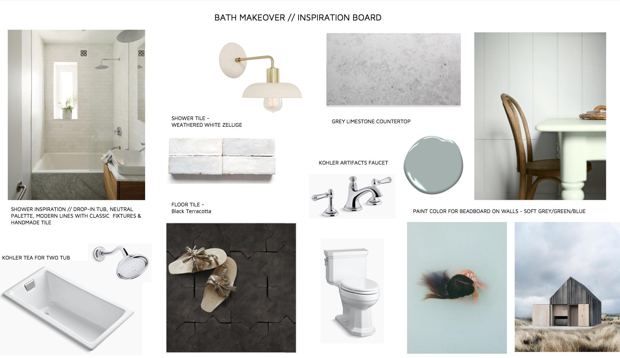designer lauren nelson's inspiration for her bathroom makeover