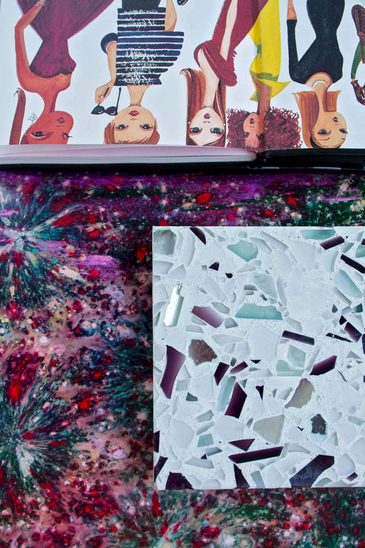 Light, Bright, Bold, and Contrasting: Vetrazzo by Laura U   Rue