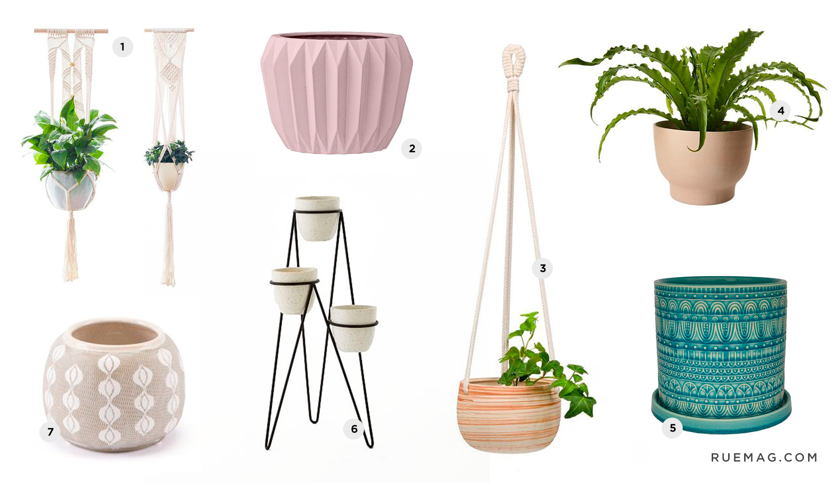 Bohemian Indoor Planters Under Budget