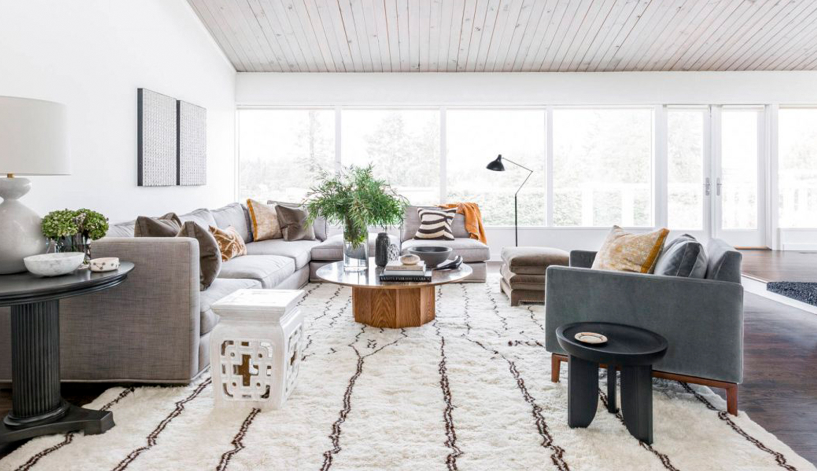Room Breakdown: A Sophisticated Eclectic Living Room by Brian ...