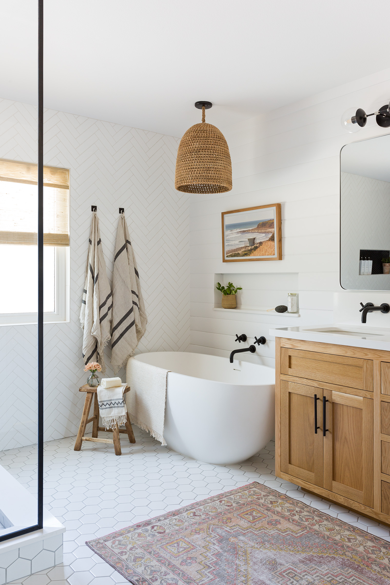 A Large Master Bathroom Designed With Personality Rue